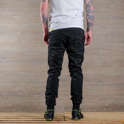 Лек мъжки панталон в черно тип джогър tr170320-6 4