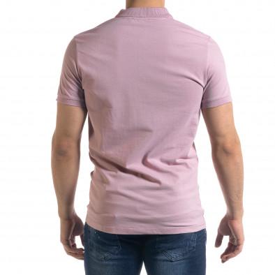 Basic мъжка розова тениска Polo shirt tr110320-74 3