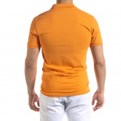 Мъжка тениска пике Polo shirt в оранжево tr110320-15 3