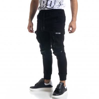 Мъжки панталон тип Jogger с обемни джобове tr110320-127 2
