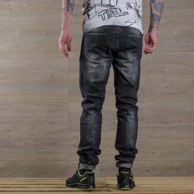 Washed Slim fit мъжки черни дънки tr030420-6 4