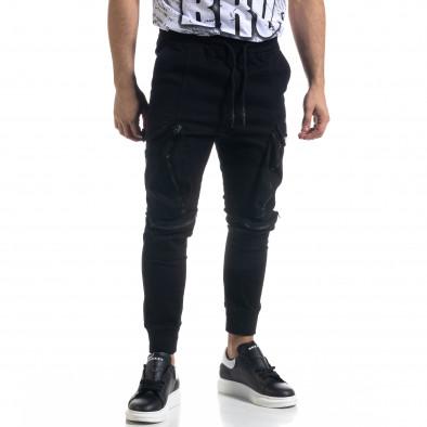 Мъжки панталон тип Jogger с обемни джобове tr110320-127 3