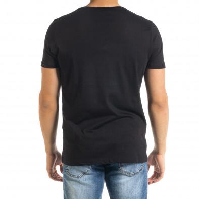Мъжка тениска Panda NASA в черно tr080520-22 3