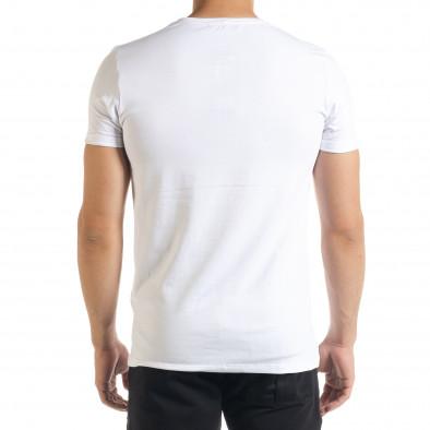 Бяла мъжка тениска You Can tr080520-29 3