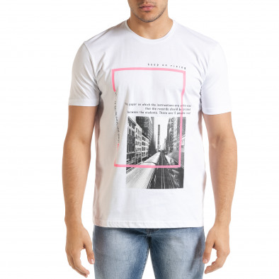 Мъжка бяла тениска Keep on Rising tr080520-8 2