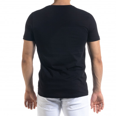 Мъжка черна тениска с принт tr110320-71 3