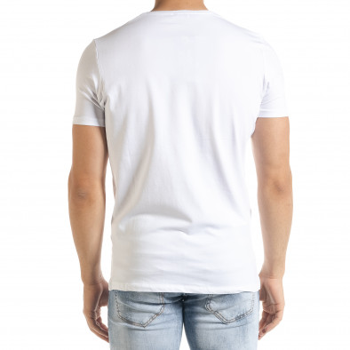 Бяла мъжка тениска 1 tr080520-17 3
