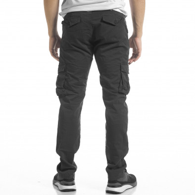 Сив мъжки панталон Cargo с прави крачоли tr240420-28 3