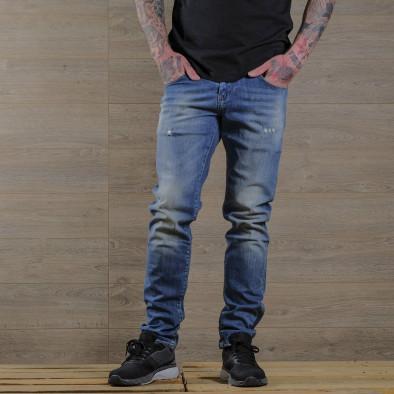 Washed Slim fit мъжки сини дънки tr030420-5 2
