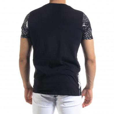 Черна мъжка тениска Come At Me tr110320-29 3