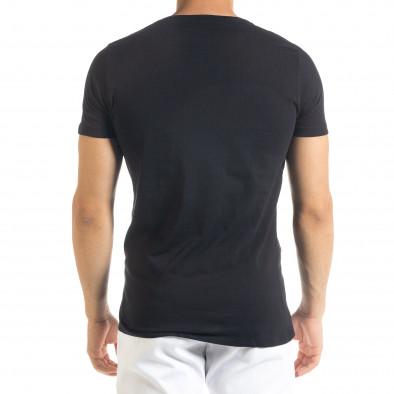 Черна мъжка тениска с прозрачен джоб tr080520-31 3