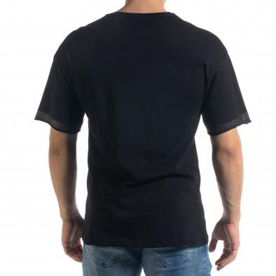 Черна мъжка тениска с принт tr110320-38 3