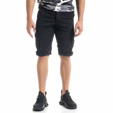 Мъжки черни  къси карго панталони tr140520-13 3