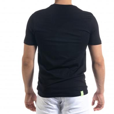 Черна мъжка тениска пикселиран принт tr110320-44 3