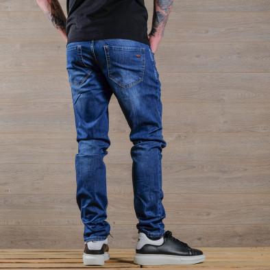 Basic Slim fit мъжки сини дънки tr030420-3 4
