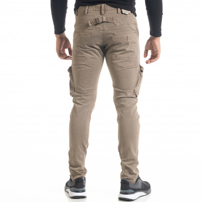 Мъжки карго панталон с прави крачоли цвят каки tr240420-25 4