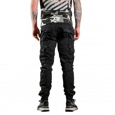 Черен мъжки Cargo Jogger в рокерски стил tr170320-2 4