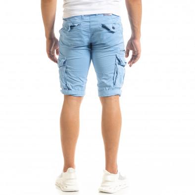 Мъжки сини къси карго панталони tr140520-11 4