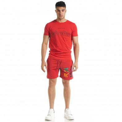 Червен мъжки спортен комплект North's tr080520-65 3