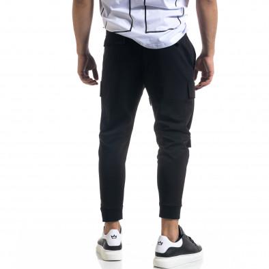 Cropped Cargo мъжки панталон в черно tr110320-133 3