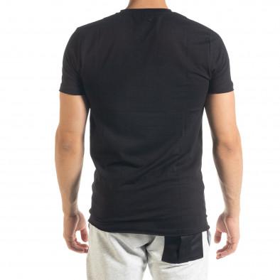 Basic V-Neck черна тениска tr080520-42 3