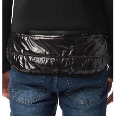 Комбинирано мъжко яке черен контраст tr131120-9 4