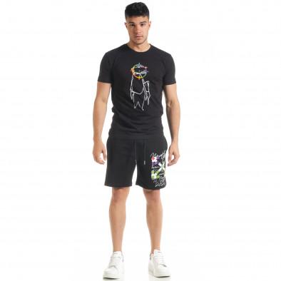 Черен мъжки спортен комплект 2020 tr080520-67 3