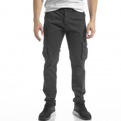 Сив мъжки панталон Cargo с прави крачоли tr240420-28 2
