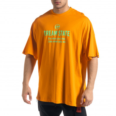 Super Oversize мъжка тениска в оранжево tr110320-1 2