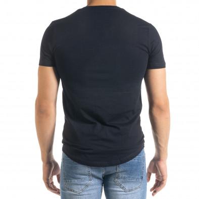 Basic O-Neck тъмносиня тениска tr080520-37 3