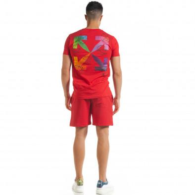 Червен мъжки спортен комплект North's tr080520-65 4