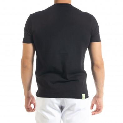 Мъжка черна тениска Keep on Rising tr080520-7 3