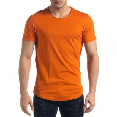 Basic мъжка тениска в оранжево tr110320-69 2