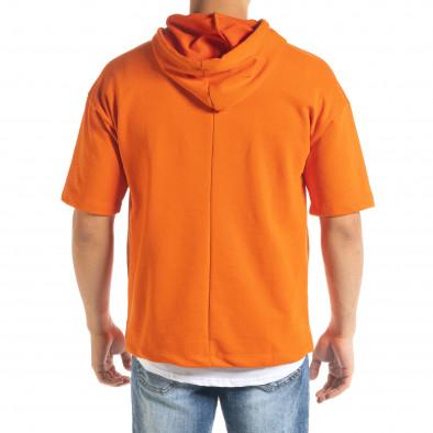Мъжки суичър с къси ръкави в оранжево tr080520-74 4