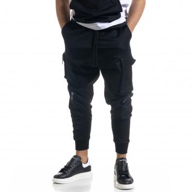Мъжки еластичен панталон с обемни джобове tr110320-134 2