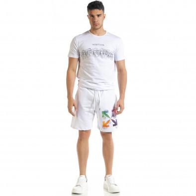 Бял мъжки спортен комплект North's tr080520-63 3