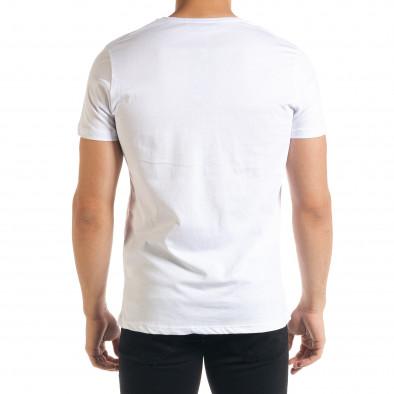 Мъжка бяла тениска JOKER tr080520-27 3