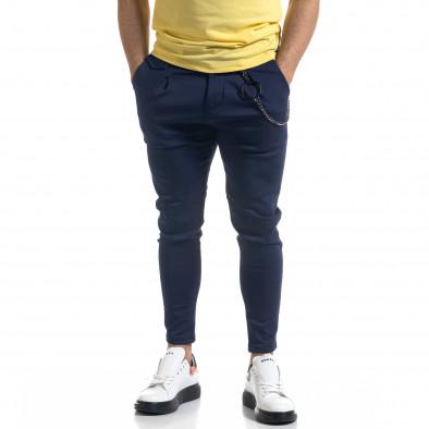 Мъжки син панталон с аксесоар tr110320-119 2