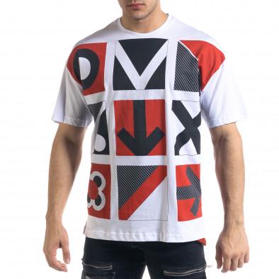 Мъжка бяла тениска Signs Oversize tr110320-10 2