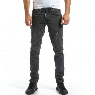 Long Slim мъжки сиви дънки плътен деним tr070921-8 2