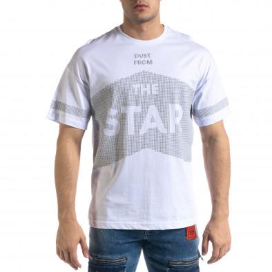 Мъжка тениска в бяло The Star Oversize  tr110320-13 2