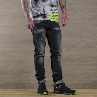 Washed Slim fit мъжки черни дънки tr030420-6 3