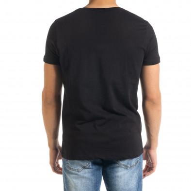 Мъжка черна тениска JOKER tr080520-26 3