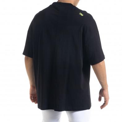 Super Oversize мъжка тениска в черно tr110320-2 3