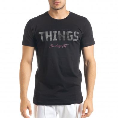 Черна мъжка тениска Things tr080520-45 2