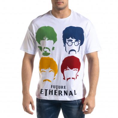 Мъжка бяла тениска The Beatles Oversize  tr110320-3 2