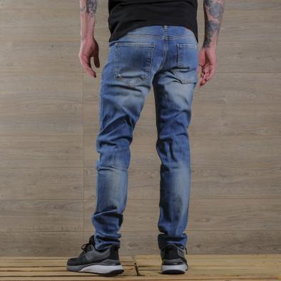 Washed Slim fit мъжки сини дънки tr030420-5 4