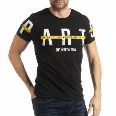 Черна мъжка тениска ART tsf190219-4 2