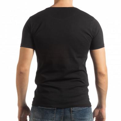 Черна мъжка тениска Criticize tsf190219-62 3
