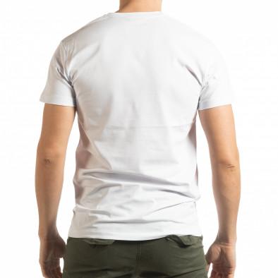 Бяла мъжка тениска BK tsf190219-73 3